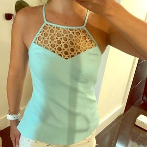 Turquoise light blue with gold